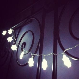 Early Xmas lights.