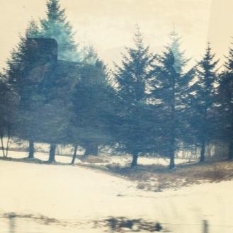Wintry landscape.