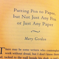 A writer on notebooks.