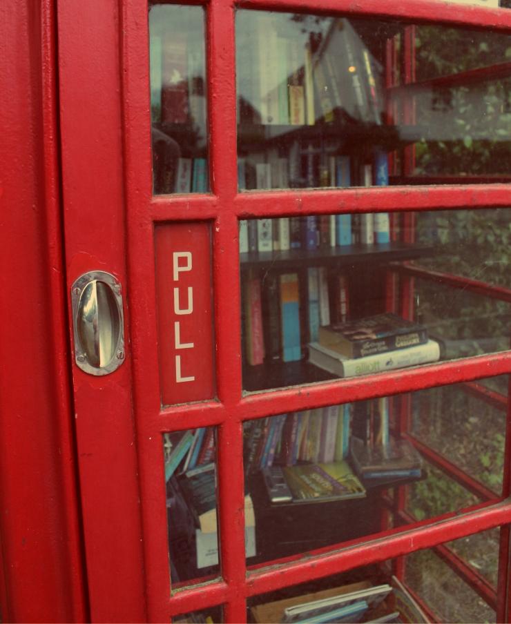 Little Shelford Library Door
